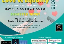 "Welcome to our upcoming event ""Love Vs Equality"""