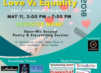"""Welcome to our upcoming event """"Love Vs Equality"""""""