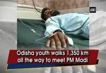 A Man walked 1,350 KM to Meet PM