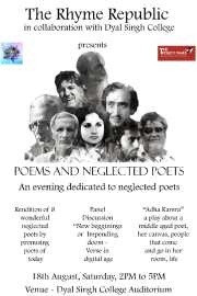 For Poem Lovers: Poems and Neglected Poets