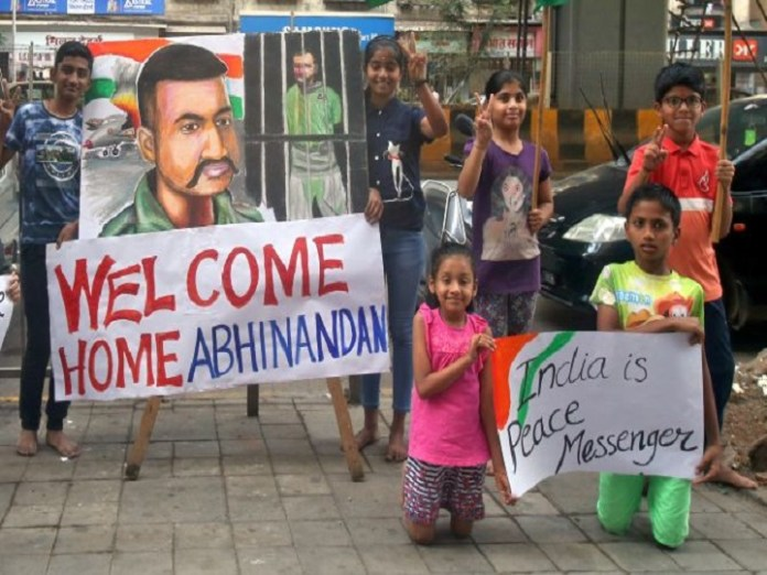 Return of Abhinandan to India,Pakistan produced a video of Abhinandan with 7cuts