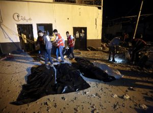 Migrant detention centre bombed in Libya gradually