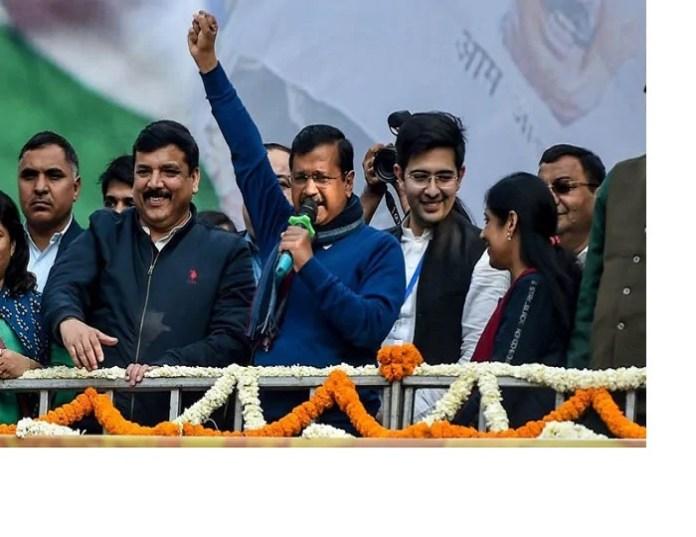 "Delhi Voters once again support Kejriwal, whole state resonates, "" Abki Baar Delhi AApki hui Kejriwal"""