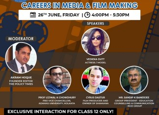 ICareer Guidance Workshop on Media & Film Making_The Policy Times_26June2020
