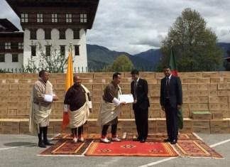 Bangladesh Handing over of gift medicines to Bhutan.the policy times