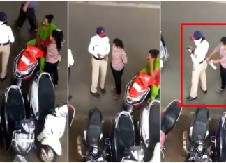 """Traffic Police Taking Bribe Is a Not So Uncommon Practice; the Latest Is a Woman Cop Who Takes Direct """"Pocket Pay"""".THE POLICY TIMES"""