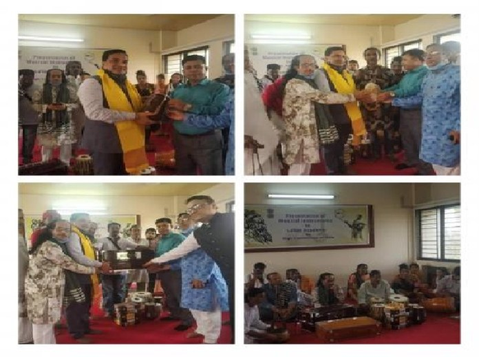 Indian Assistant H.C. to Bangladesh gifted Musical Instruments to LALON Academy THE POLICY TIMES