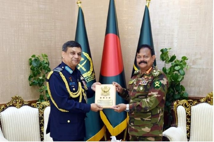 Farewell meeting of the Chief of Air Staff with the Chief of Bangladesh Army