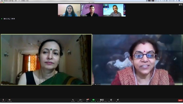Prof. Arya gives training for debunking misinformation, Prof. Kiran analyses gender issues and Kathryn from USA unfolds practices of PR with her book