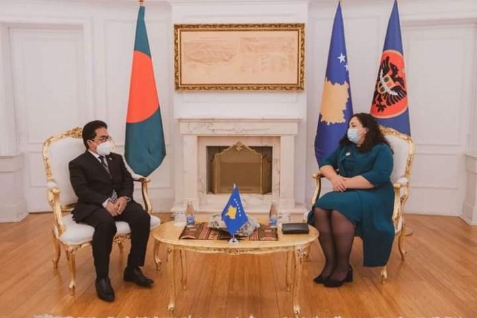 Non-resident Ambassador of Bangladesh to Kosovo presented his credentials to the President of Kosovo