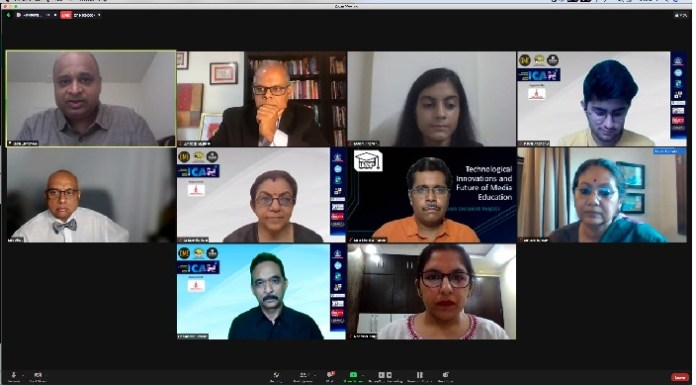 Three US scholars Dr Jatin, Dr Deb and Dr Sundeep, Prof. Ranjit of DTC and Prof. KG Suresh of MCU reinforce communication technologies for media