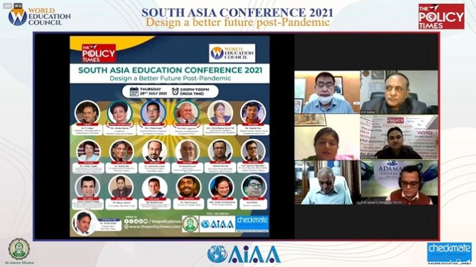 Guidance to Design a better future Post-Pandemic in South Asia Education Conference 2021