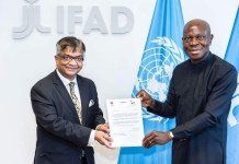IFAD President praises Bangladesh for its significant project implementation capacity as PR of Bangladesh presents Letter of Commission