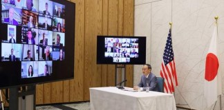 Video Teleconference Meeting between Japan's Prime Minister Suga and members of the U.S. Chamber of Commerce and the U.S.-Japan Business Council