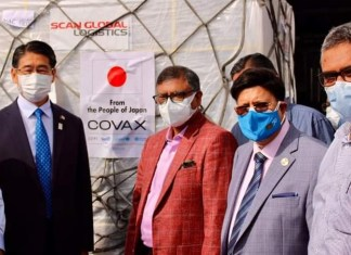 Another 1.4 million COVID-19 Vaccines arrive in Bangladesh from Japan
