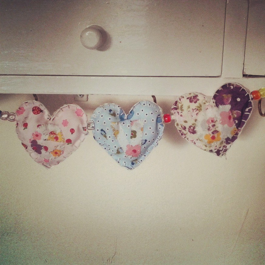 Fabric Heart Garland Tutorial The Polished Button