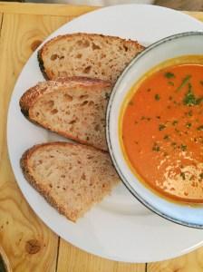Sweet Potato Soup with Sourdough Bread