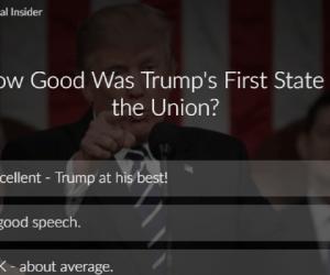 trump poll state union