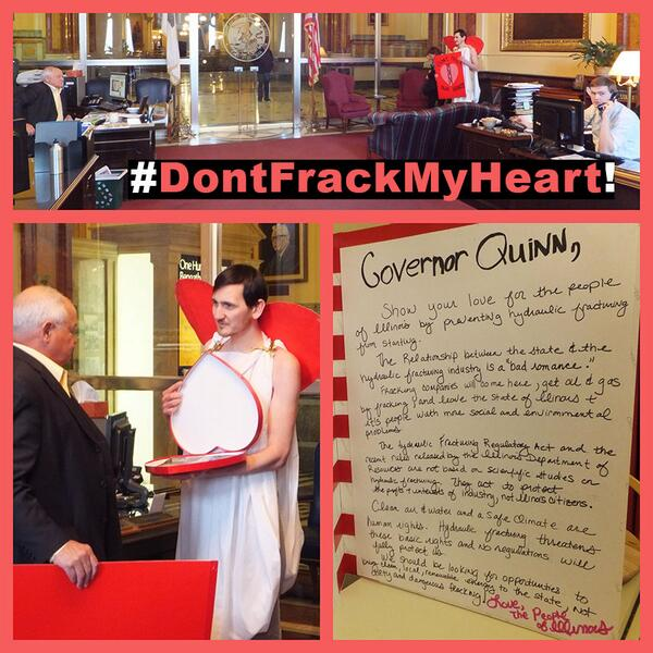 , Pat Quinn Gets Fracking Valentine, The Politicus