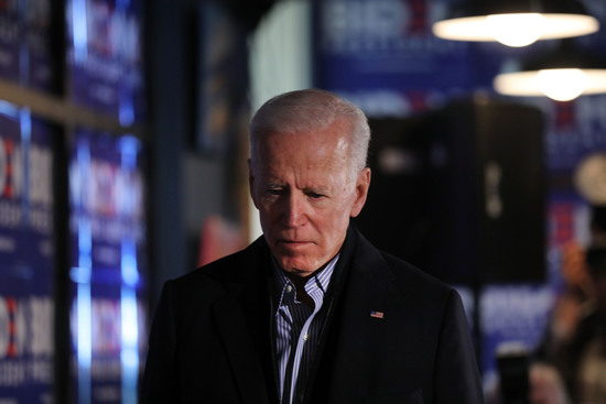 HAMPTON, NEW HAMPSHIRE - MAY 13: Former Vice President and Democratic Presidential candidate Joe Biden speaks to voters in New Hampshire on May 13, 2019 in Hampton, New Hampshire. The former Vice President is scheduled to make three public stops in New Hampshire, his first visit to the state as a presidential candidate on Monday and Tuesday. In new data released Sunday from the key primary state of South Carolina, 46% of likely party primary voters say they are supporting Biden. The former Vice President has enjoyed an early surge in the polls since announcing his candidacy. (Photo by Spencer Platt/Getty Images)
