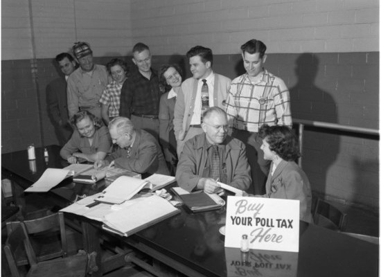 Poll tax workers in Texas