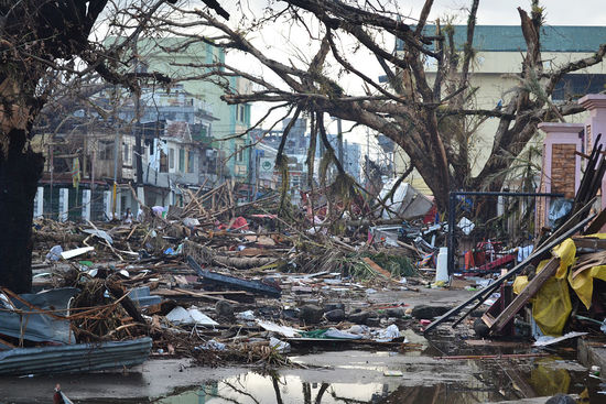 Tacloban, the Philippines, in the aftermath of Typhoon Haiyan