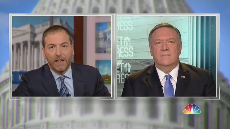 Chuck Todd drills Secretary of State Mike Pompeo on statement that Americans safer after Soleimani