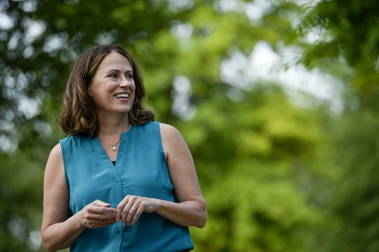UNITED STATES - AUGUST 11: Democratic senate candidate Theresa Greenfield arrives at a picnic hosted by the Adair County Democrats in Greenfield, Iowa on Sunday August 11, 2019. (Photo by Caroline Brehman/CQ Roll Call via AP Images)