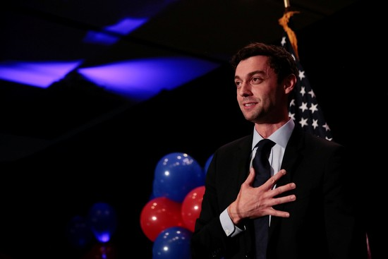 Democrat Jon Ossoff addresses his supporters after his defeat in Georgia's 6th Congressional District special election in Atlanta, Georgia, U.S., June 20, 2017.  REUTERS/Chris Aluka Berry - RC181ECEAF20