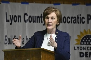 Emporia, Kansas - February 10: Dr. Barbara Bollier who is a Democratic Senatorial candidate was the featured speaker at tonights Lyon County Democrats monthly meeting at the Veterans Of Foreign Wars Post 1980 on February 10, 2020 in Emporia, Kansas. Credit: Mark Reinstein/MediaPunch /IPX