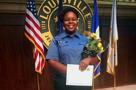 Breonna Taylor showing her EMT completion certificate