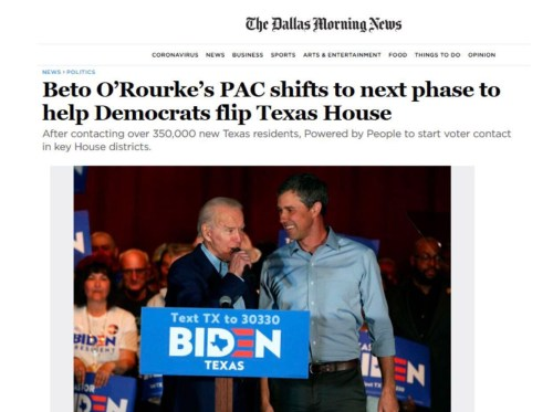 ", Dallas Morning News, ""Beto O'Rourke's PAC shifts to next phase to help Democrats flip Texas House"", The Politicus"