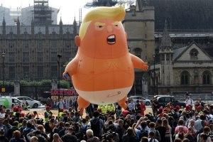 Trump flying baby
