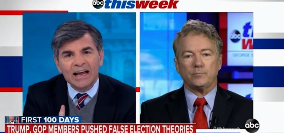 George Stephanopoulos grills hyperventilating Rand Paul into a frenzy about GOP election lies