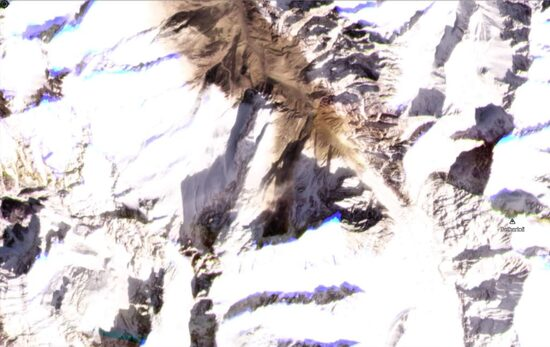 The landslide from Trishuli that caused the Chamoli flood.