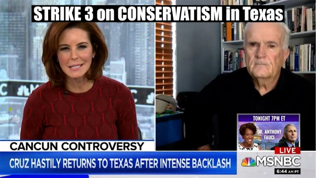 STRIKE 3: Ted Cruz, Greg Abbott, failed Texas Electric grid Nail in coffin for Texas CONSERVATISM.