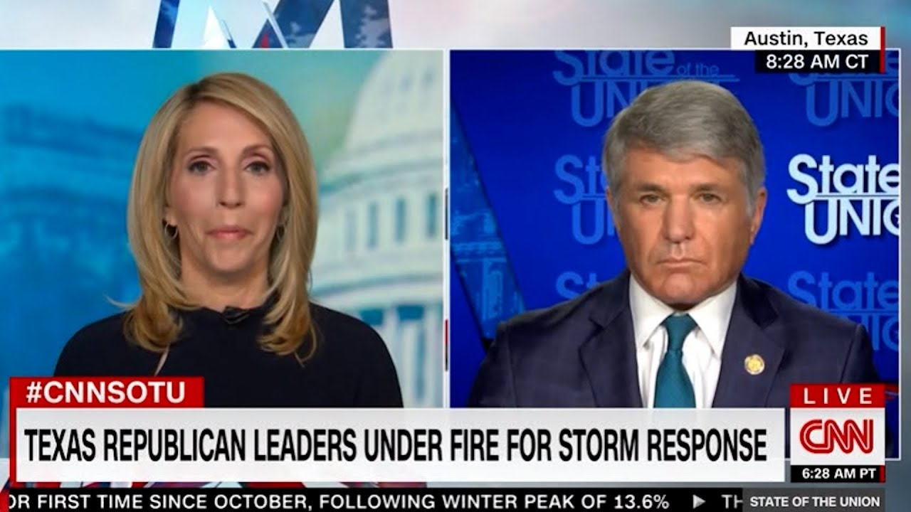 "Dana Bash dings Texas Rep: Texas begging for federal help when it's in a mess for its ""independence"""
