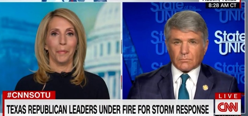 """Dana Bash dings Texas Rep: Texas begging for federal help when it's in a mess for its """"independence"""""""