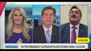THIS IS UNBELIEVABLE! NEWSMAX ANCHOR WORK OFF SET | MY PILLOW GUY ELECTION LIES