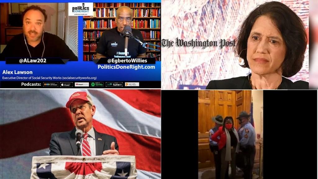 Alex Lawson: Trump's cronies delayed COVID stimulus checks. GOP voter suppression. Failed Presser