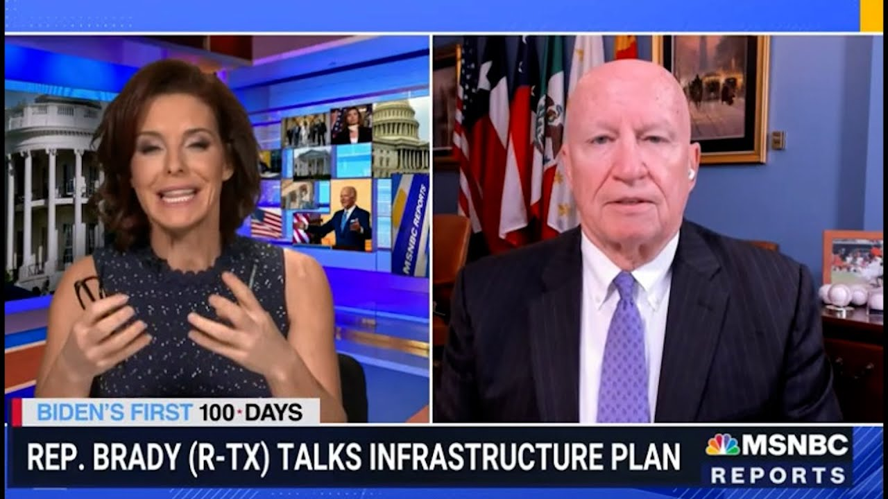 Stephanie Ruhle grills GOP Rep. objecting to taxing corporations for infrastructure. BIG FAIL!