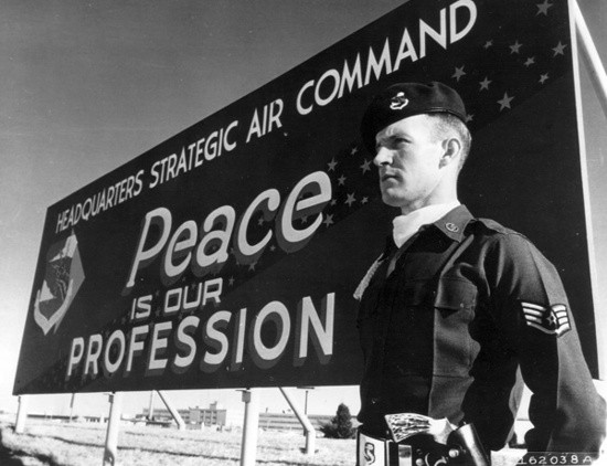 Peace is our Profession. Still from Kubrick's Dr. Strangelove