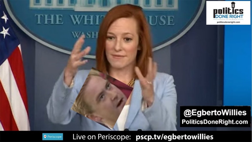 Fox News Doocy gave Jen Psaki a twofer: She taught him geography & ridiculed his Fox News chyron