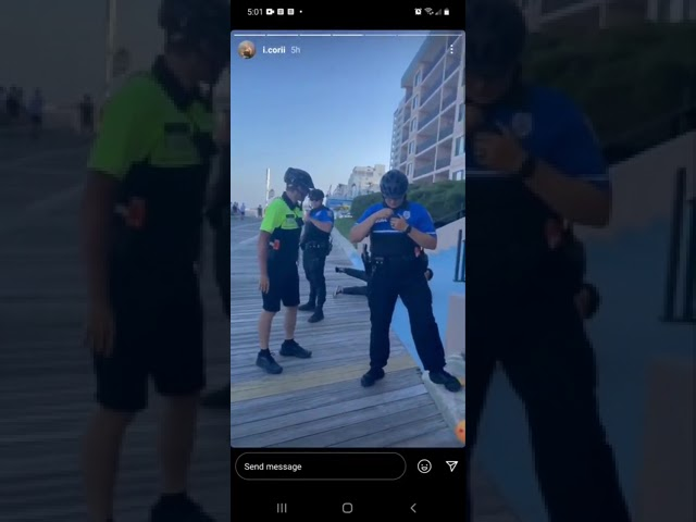 Police in Ocean City Maryland tasered a teenager after they accused him of vaping yesterday