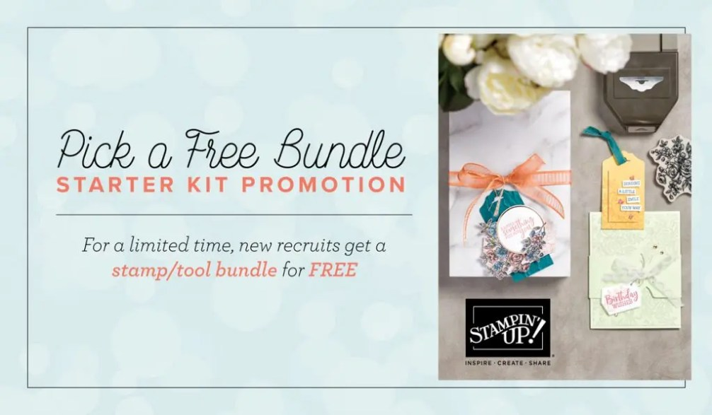 This image provides information on a Stampin' Up promotion.