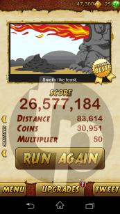 Temple Run 20 Million Score