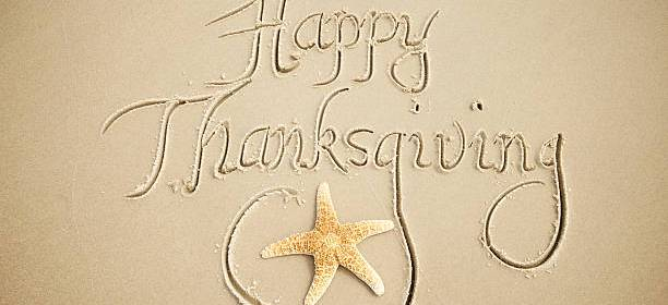 happy thanksgiving in the sand