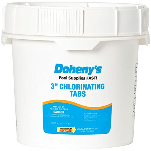 Doheny's 3 Inch Swimming Pool Chlorine Tablets 10 lbs