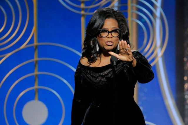 Oprah Winfrey at the 2018 Golden Globes