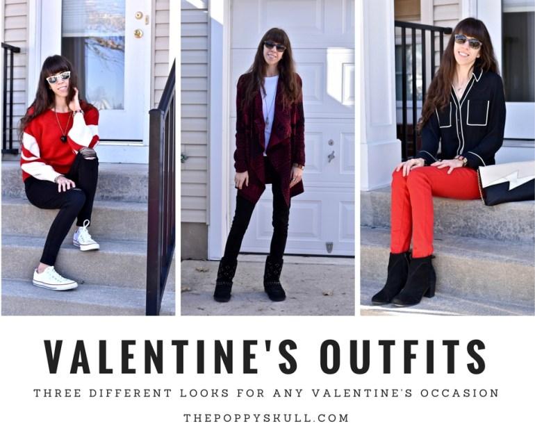 Three Valentine's Outfits- The Poppy Skull- Three Edgy Valentine's Outfits For Any Valentine's Date